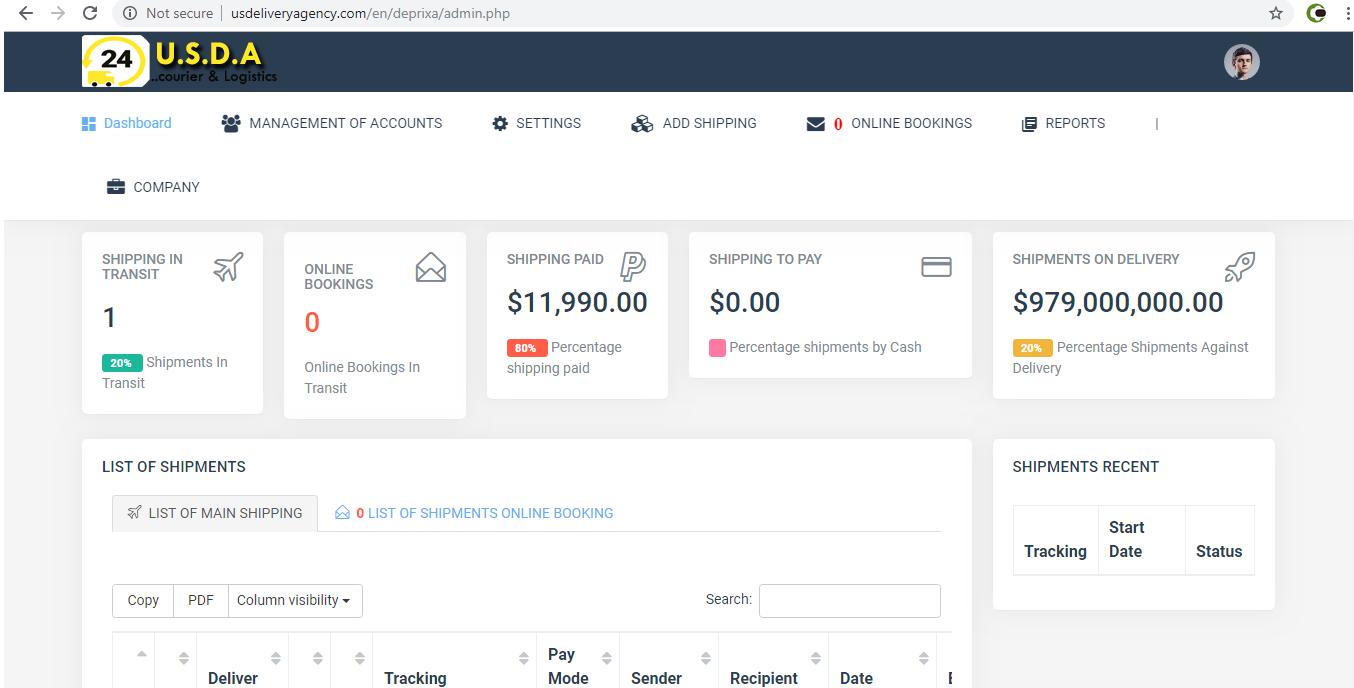 Complete Online Shipment & Tracking Logistics Management PHP Script